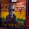 Joe Strummer Memorial Mural outside the Niagara bar, corner of 7th street and Avenue A. Joe Strummer, was the co-founder, lyricist, rhythm guitarist and lead vocalist of the critically acclaimed British rock band The Clash.