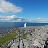 At the eastern coastal edge of the Burren you'll find this cute little light house that is easily accessible and a great place to relax and catch some rays.