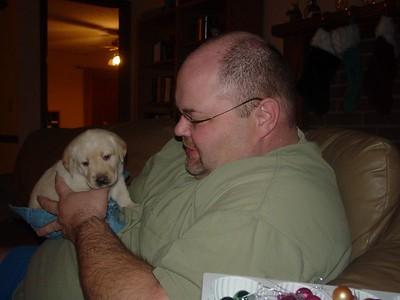 Jon and Nickole's puppy, Grace.