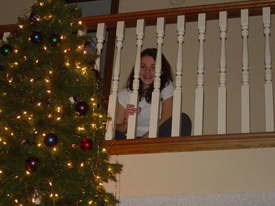 Nicky by the tree.