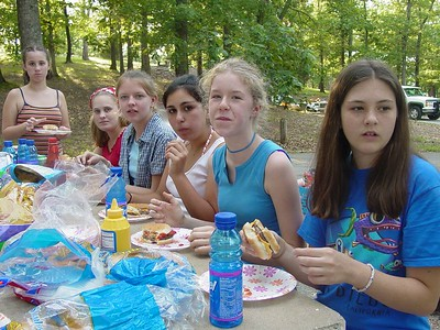 Left to right:  Sammy D., Sarah, Anna, Jeny, Jael, and Kendall (pre-chicken pox outbreak!)