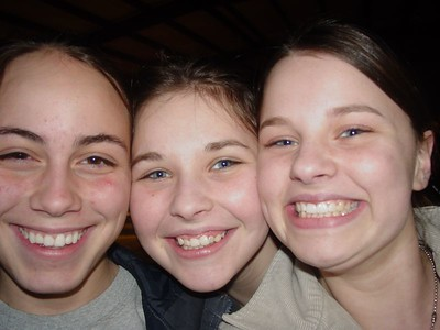 Zack's friend? Morgan (left), Samantha H, Elizabeth