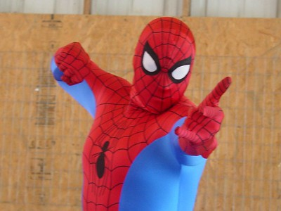 Spider-Man.  This guy got paid $3000 and got a 20 min. break every hour!