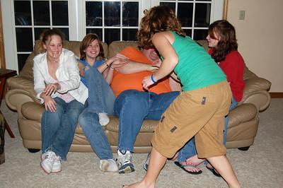 The girls torturing Jon...