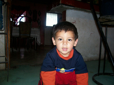 The little boy that lived in our house, Gloria's grandson. His name is Angelito (Angel), he's absolutely adorable.