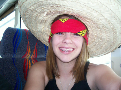 My rocking the bandana along with the sombrero.