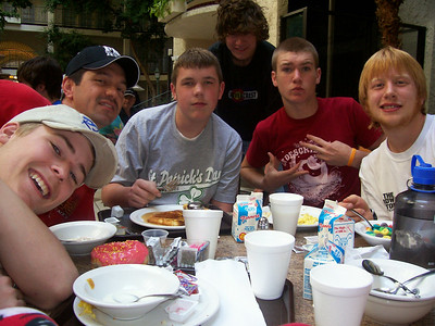 Some of my closest guy friends, from left to right, Spencer, Chris, Josh, Tyler, Logan, and Aaron.