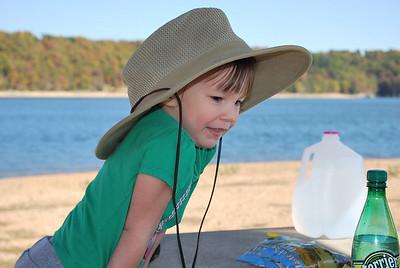 Cute in Papa's hat!