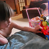 Having fun with her Flyboat.