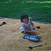 In her corn box that Papa built her.