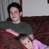 Cuddling with Sam's boyfriend, Isaac.