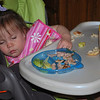 She was so worn out from our Mother's Day activities, she fell asleep in her high chair!