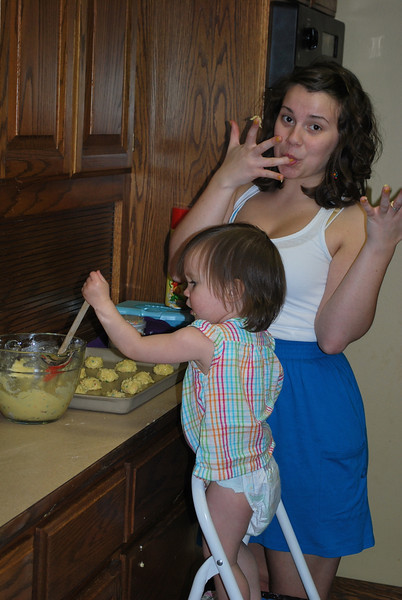 Baking cookies with Nicky.