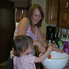 Baking with Mama.