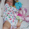 First nap without her binky. She has her blankie and her seahorse doll to keep her company.