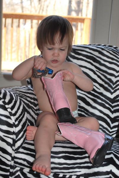New cowboy boots.