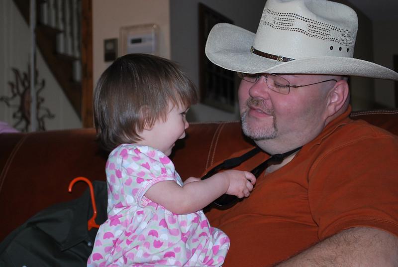 She loves her Papa.