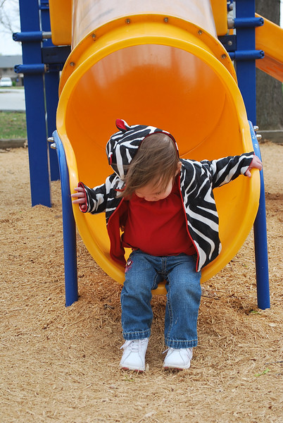 Playing at Olive Street Park with Ashley.