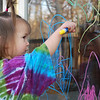 Having so much fun with her window crayons!