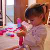 She especially likes the single unit Legos for building tall towers.