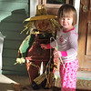 Shiloh's new scarecrow friend.
