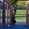 Playing at Veteran's Park.