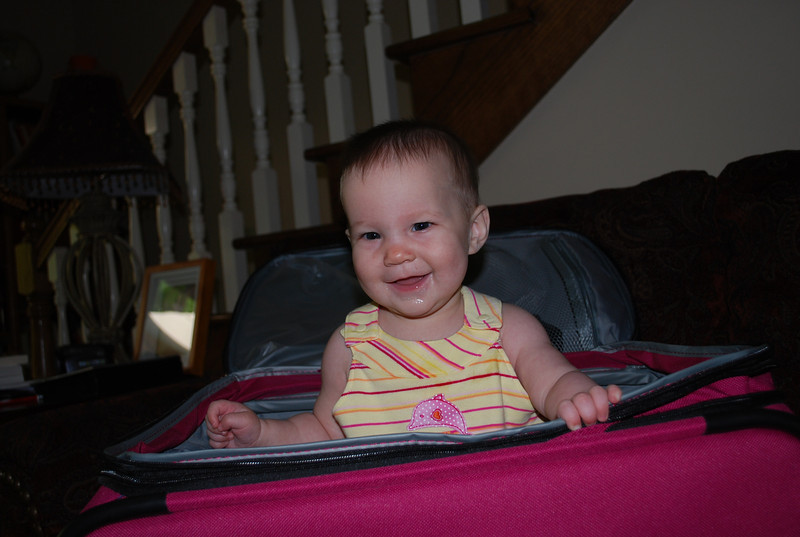 My big sister Nicky got new luggage for graduation from her boyfriend's family.