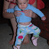 """My sisters Sam and Sammy put me in my """"apple bottom"""" PJ's and fur-trimmed boots."""
