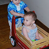 Yes, Jeremiah, as long as you push me around in this wagon, we'll get along just fine.