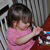 Shiloh enjoying her little cake.