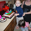 Shiloh did not like the attention so Jeremiah filled in for her to blow out the candles on her cake.