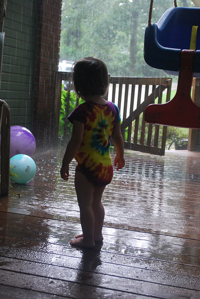 Shiloh has always loved rainy days.