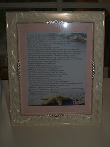 I was at my Ladies Bible Study and we discussed this Psalm.  It was so perfect for the nursery that I tore it out of my book and framed it.  It is Psalms 139...please read it when you have a chance.  It is a beautiful Psalm!