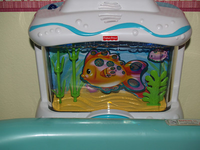 Jeremiah loves this little Fisher Price Aquarium Soother!  I hope my baby does, too.