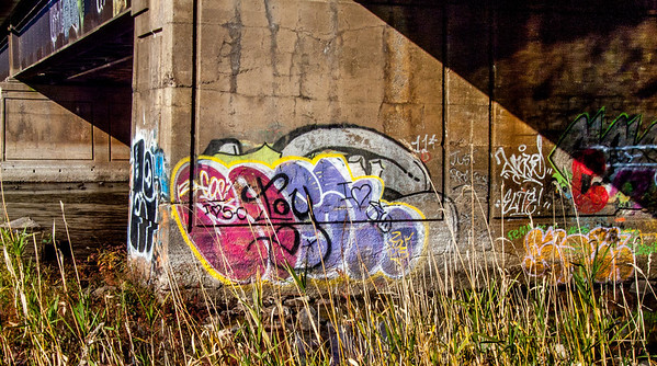 More graffiti to add a splash to the fall colours.