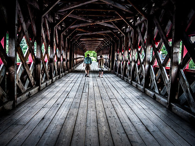 The covered bridge in Wakefield, Quebec.