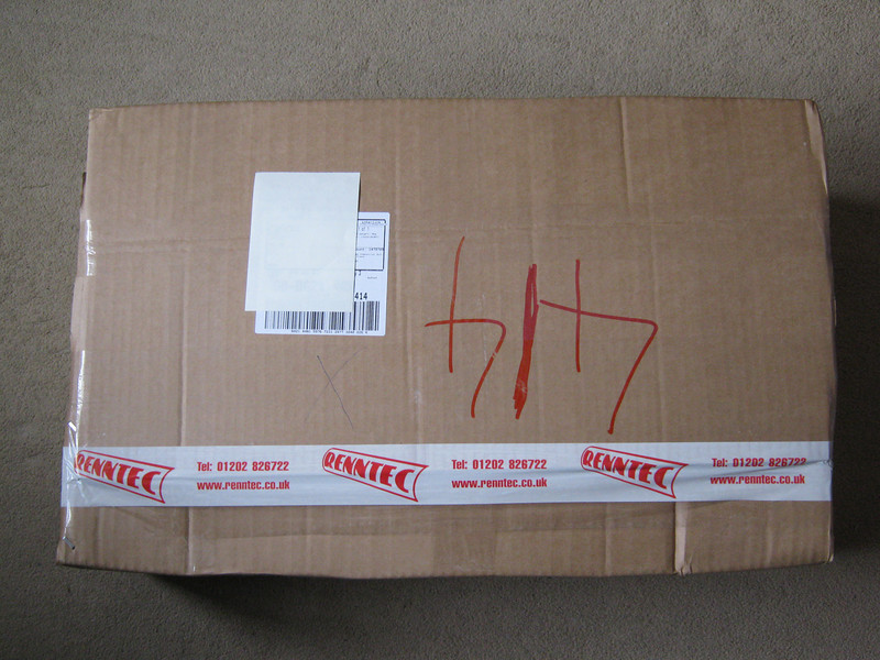 Another box arrives by courier