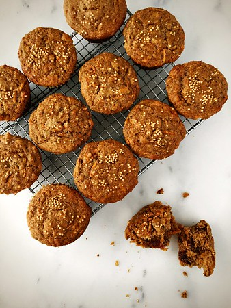 Multigrain Carrot, Date and Mustard Muffins