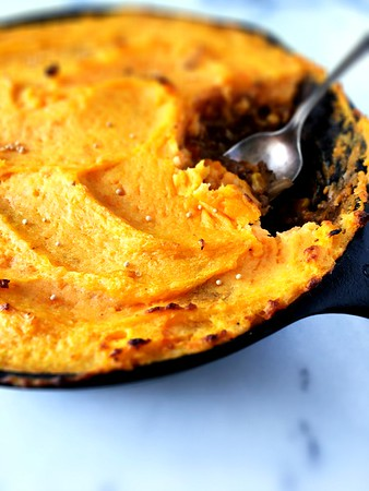 Shepherd's Pie with Sweet Potato and Mustard Mash