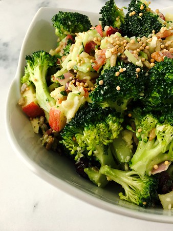 Honey Mustard Broccoli & Bacon Salad