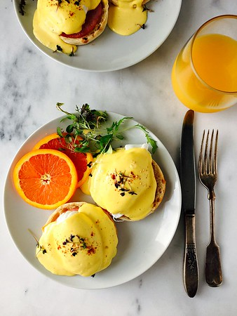 Eggs Benedict with Zippy Blender Dijon Hollandaise