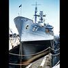 This is USS Tolovana AO-64 in dry dock at Mare Island Naval Shipyard, Valejo, California.