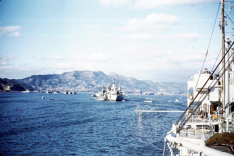 Sasebo harbor.