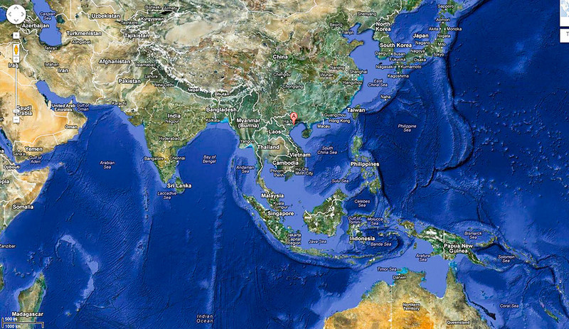 "This is an overview of where we (USS Tolovana AO-64) operated in the Western Pacific (West Pac).  The city of Haiphong, French Indochina (Vietnam) is marked with the ""A"" pin.  Other areas we frequented were:  Japan; Korea; Taiwan; Hong Kong; and Philippines."