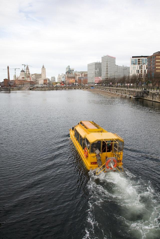 Yellow Duckmarine on Liverpool's Salthouse Dock