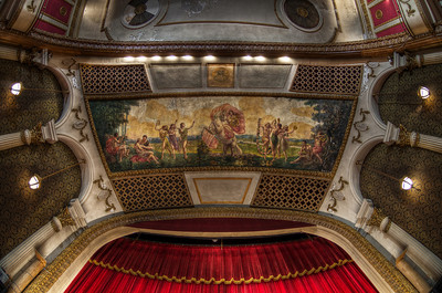 """The Ceiling Mural above the Proscenium"" The Columbus Theatre March 29th, 2011"