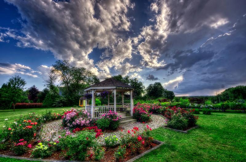 """Grandma's & Grandpa's Gazebo""<br /> June 23rd, 2012<br /> Roseland Nursery<br /> Acushnet, MA"