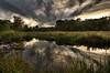 """Sun Setting on Hamlin's Pond""<br /> September 16th, 2011"