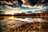 """Sunset on Acushnet's Hamlin's Mill Pond""<br /> March 20th, 2013<br /> Acushnet, MA"