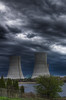"""""""Brayton Point Twin Towers""""<br /> The Brayton Power Station Water Cooling Towers<br /> Somerset, MA<br /> April 30th, 2011"""